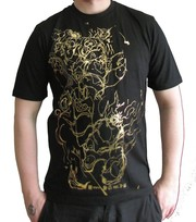 Play Nice Gold Foil Black Tee Brand New