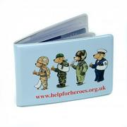 Bus Pass Holders Made in the UK out of recycled pvc..
